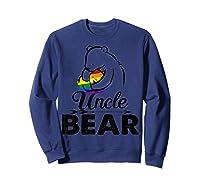 Uncle Bear Lgbt Rainbow Pride Gay Lesbian Gifts Shirts Sweatshirt Navy