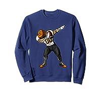 Football Dabbing T Shirt Funny Black Orange  Sweatshirt Navy