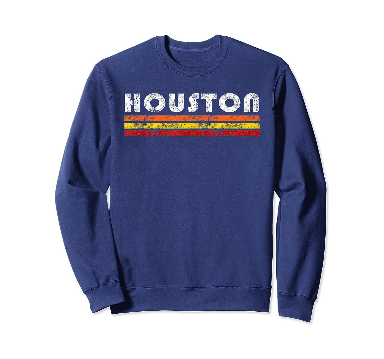 Houston Texas Retro T Shirt Vintage Caps Crewneck Sweater