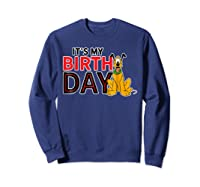 Disney Pluto My Birthday T Shirt Sweatshirt Navy