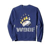 Bear Pride Woof Bear Claw Symbol Distressed For Shirts Sweatshirt Navy