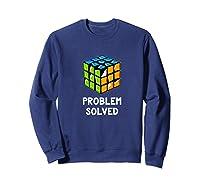 Problem Solved - Rubic Cube Premium T-shirt Sweatshirt Navy