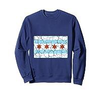 Chicago City Flag Shirt Illinois Retro Vintage Sweatshirt Navy