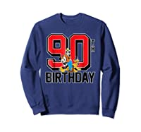Disney Birthday Group 90th T Shirt Sweatshirt Navy