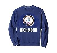 Richmond Virginia T Shirt Va Group City Trip Silhouette Flag Sweatshirt Navy