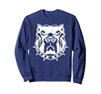 Pit Bull Face T For Pitbull And Apbt Lovers Shirts Sweatshirt Navy