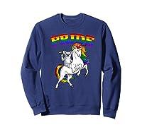 Koala Bear Unicorn Gay Pride Rainbow Q Cute Gift Shirts Sweatshirt Navy
