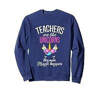 Teas Are Like Unicorns Tea Appreciation Gift Shirts Sweatshirt Navy