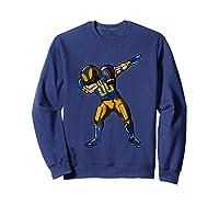 Football Dabbing T Shirt Funny Royal Blue Gold Navy  Sweatshirt Navy