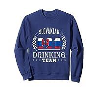Beer Slovenian Drinking Team Casual Slovakia Flag T-shirt Sweatshirt Navy