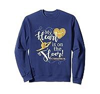 My Heart Is On The Floor Gymnast Mom Gif #gymmom Shirts Sweatshirt Navy
