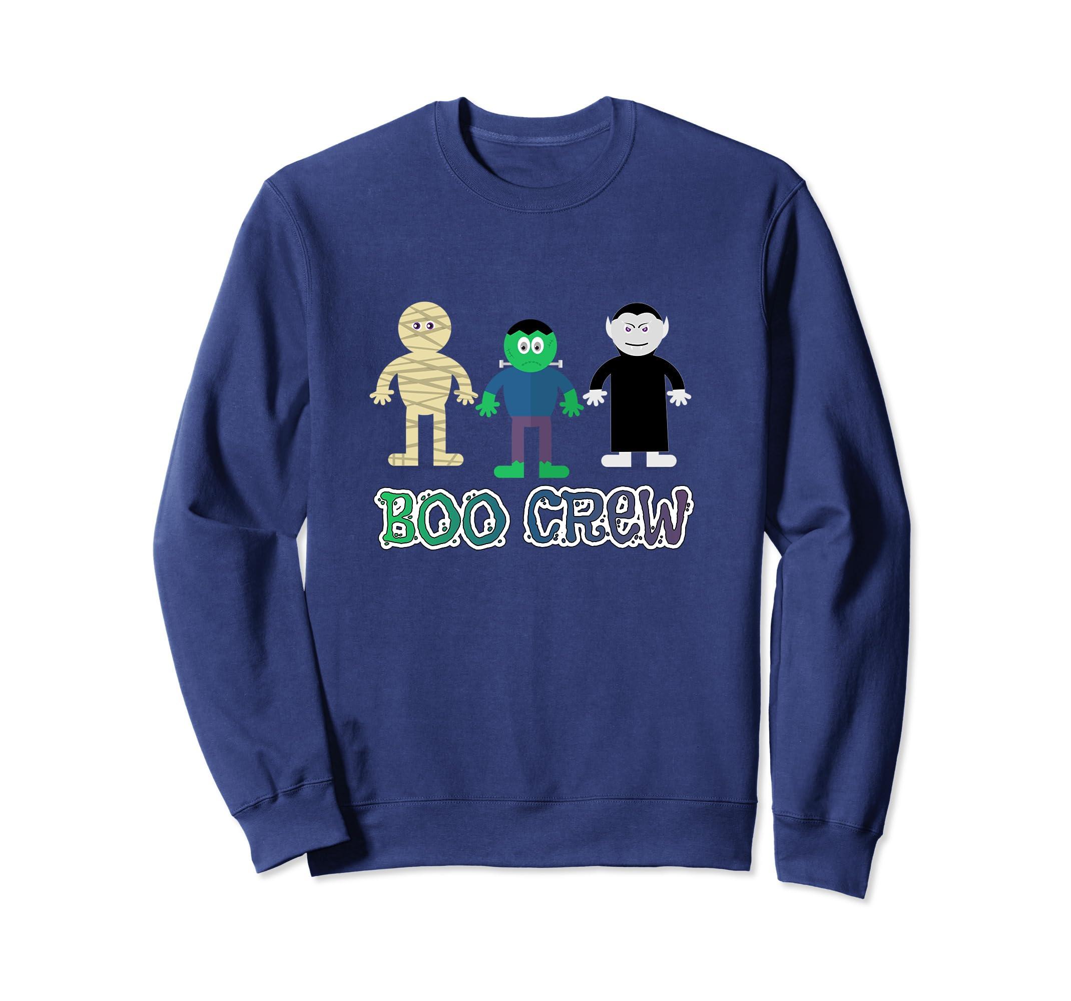 Boo Crew-Cute Halloween Trick or Treat Monster Sweatshirt- TPT