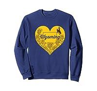 Wing Cow Heart Flower T-shirt - Apparel Sweatshirt Navy