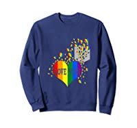 Love Wins Lgbtq Color Heart Pride Month Rally Shirt Tank Top Sweatshirt Navy