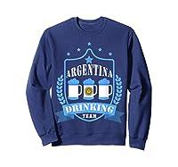 Beer Argentina Drinking Team Casual Argentina Flag T-shirt Sweatshirt Navy