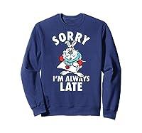 Disney Alice Always Late T Shirt Sweatshirt Navy