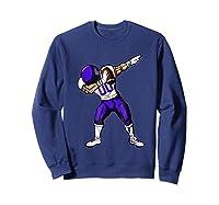 Football Dabbing T Shirt Funny Purple  Sweatshirt Navy
