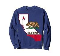 California Bear And Map Cool Gift Shirts Sweatshirt Navy