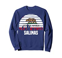 Salinas California T Shirt Ca Group City Silhouette Flag Tee Sweatshirt Navy