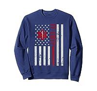 Ff Emtp Firefighter Paramedic Usa Flag Shirts Sweatshirt Navy
