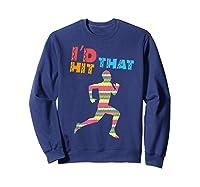 I D Hit That Runner. Pinata Shirt. Cinco De Mayo Sweatshirt Navy