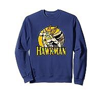 Justice League Hawkman Circle T Shirt Sweatshirt Navy