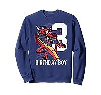 Mulan 3rd Birthday Boy Mushu Portrait Shirts Sweatshirt Navy