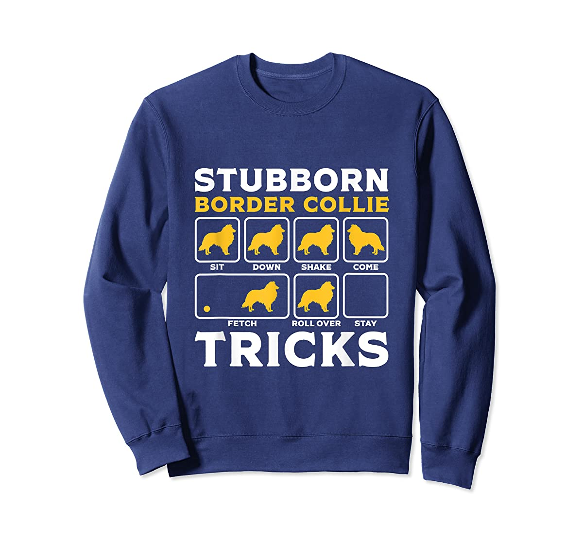 Border Collie Shirt for Women Men Dog Lover Gift Cute Dogs-Sweatshirt-Navy