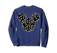 Disney Mickey Christmas Lights T Shirt Sweatshirt Navy