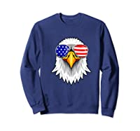 Patriotic Eagle 4th Of July Usa American Flag Sunglasses Premium T-shirt Sweatshirt Navy