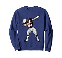 Football Dabbing T Shirt Funny Blue Gray Red  Sweatshirt Navy