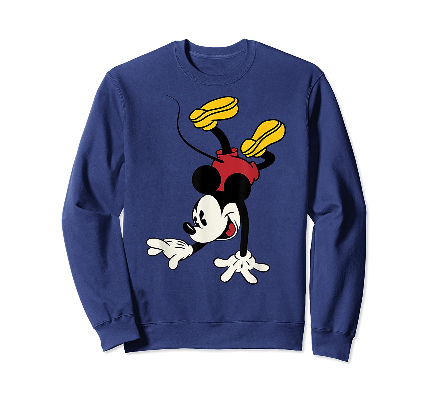 Disney Mickey Mouse Handstand T Shirt Crewneck Sweater