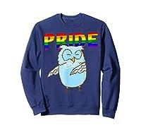 Flossing Owl Lesbian Bisexual Gay Lgbt Pride Gifts Shirts Sweatshirt Navy