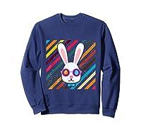 Funny Techno Rabbit Easter Edition Shirt Easter Celebration Sweatshirt Navy