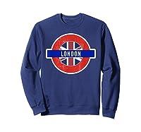 London Uk T Shirt Fun English British City Travel Gift Sweatshirt Navy