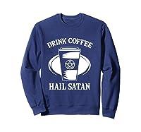 Pentagram Occult Satanic Lucifer Gift Shirts Sweatshirt Navy