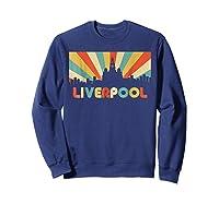 Liverpool T Shirt England Vintage Skyline Souvenirs Shirt Sweatshirt Navy