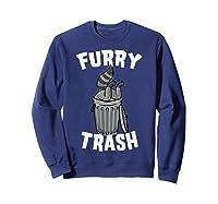 Furry Trash Bandit Raccoon Fandom Furries Tail T Shirt Gifts Sweatshirt Navy