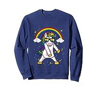 Lgbt Pride Month Unicorn Funny Rainbow Gay & Lesbian Gift Tank Top Shirts Sweatshirt Navy
