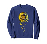 June 1993 26 Years Of Being Awesome Mix Sunflower Shirts Sweatshirt Navy