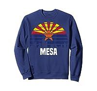 Mesa Arizona T Shirt Az Group City Silhouette Flag Tee Gift Sweatshirt Navy