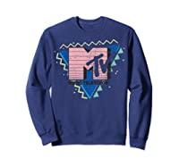 Pink Stripes Logo 90's Retro Design Graphic Shirts Sweatshirt Navy