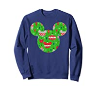 Disney Mickey Christmas Ornats T Shirt Sweatshirt Navy