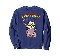 Lgbt Possum Gay Pride Rainbow Lgbtq Cute Gift Opossum Premium T-shirt Sweatshirt Navy