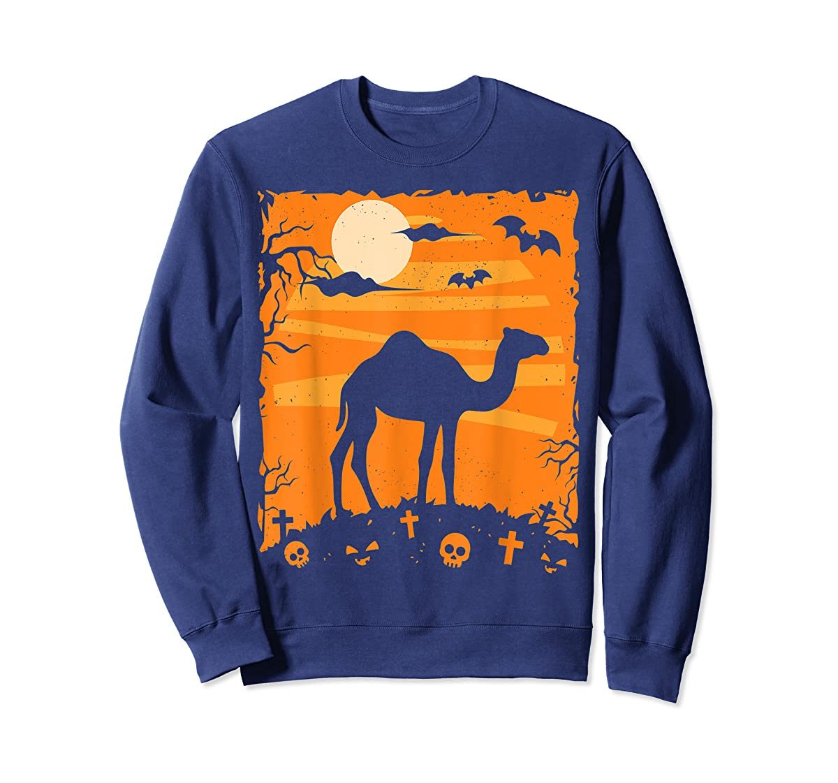 Camel Halloween Costume Animal Funny Pumpkin Outfit Gift T-Shirt-Sweatshirt-Navy