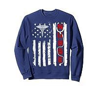Patriotic American Usa Flag Correctional & Rn Nurse Tshirt Sweatshirt Navy
