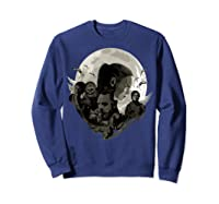 Star Wars Last Jedi Rebels Moon Silhouette Graphic T-shirt Sweatshirt Navy