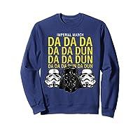 S Darth Vader Imperial March Graphic Shirts Sweatshirt Navy
