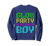 Glow Party Birthday Boy Party Gift Neon Retro Shirts Sweatshirt Navy