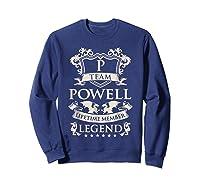 Team Powell Last Name Gifts Vintage Legend Family Tshirt Sweatshirt Navy